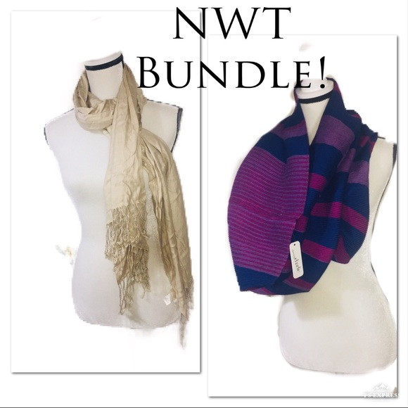 bc86ca81c58b Charming Charlie Accessories | 2 Nwtshoulder Wrapsscarves | Poshmark